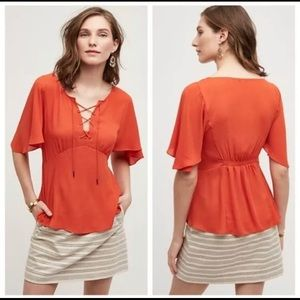•Anthropologie• HD in Paris Palo Alto Lace Up Top